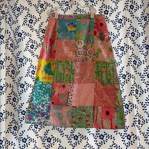 RARE VINTAGE LILLY PATCHWORK SKIRT